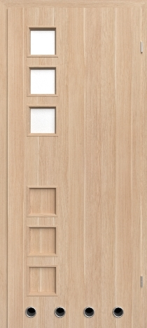 Usa interior Leda - Natural oak vertical - model 2 ( cu guri de ventilatie)