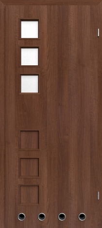 Usa interior Leda - Walnut - model 2 ( cu guri de ventilatie)