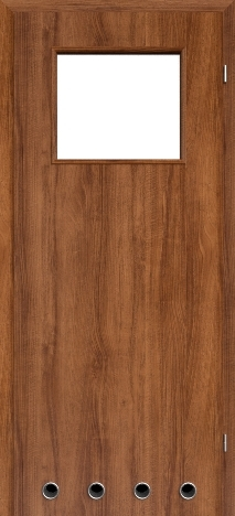 Usa interior NaturaHR - Walnut rosso - model 2 (cu guri de ventilatie)