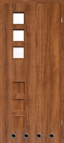 Usa interior Leda - Walnut Rosso - model 2 ( cu guri de ventilatie)