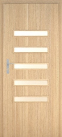 Usa interior Century - Natural oak vertical - model 6