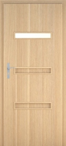 Usa interior Century - Natural oak vertical - model 4