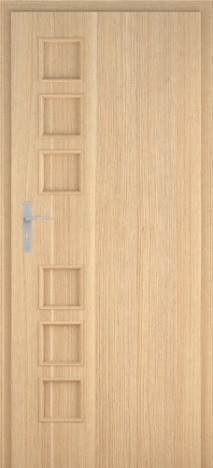 Usa interior Leda - Natural oak vertical - model 1