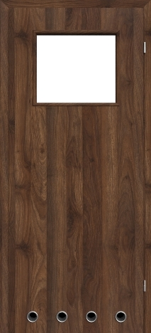Usa interior NaturaHR - Columbia walnut dark - model 2 (cu guri de ventilatie)