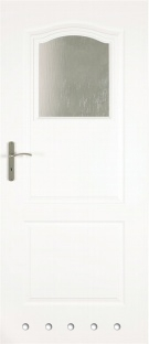 Usa interior Classic - White Lacquered- model 2 (cu guri de ventilatie)
