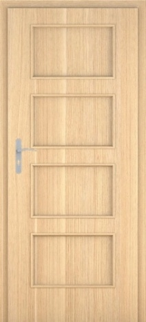 Usa interior Malaga - Natural oak vertical - model 1