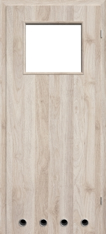 Usa interior NaturaHR - Columbia walnut light - model 2 (cu guri de ventilatie)