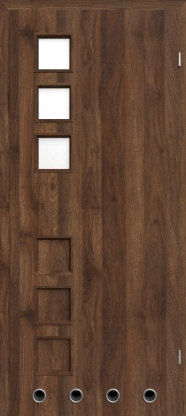 Usa interior Leda - Walnut Columbia dark - model 2 ( cu guri de ventilatie)