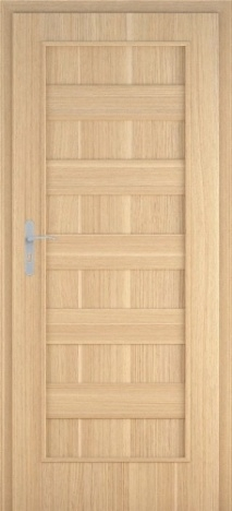 Usa interior Leto - Natural oak vertical - model 1